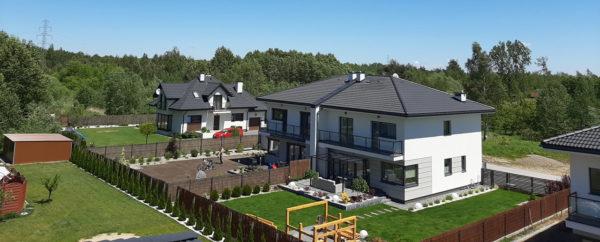 Nowy dom na sprzedaż - widok z budowanego domu