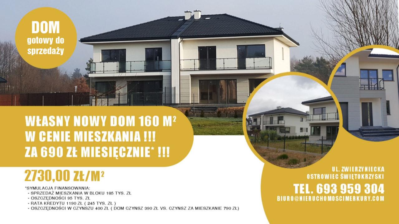 Własny nowy dom 160m - gotowy do sprzedaży